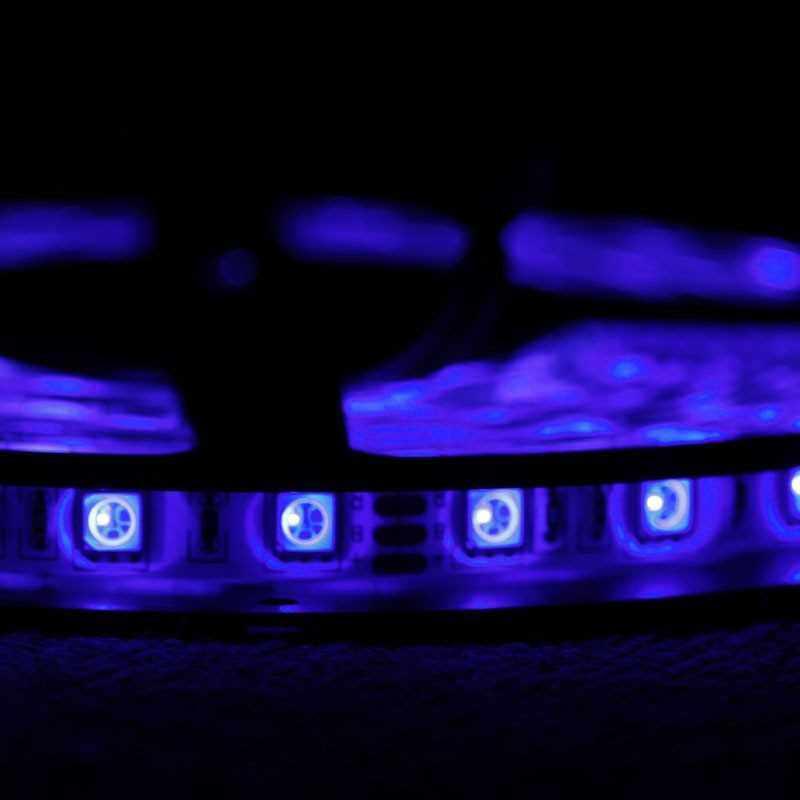 5M RGB 5050 SMD LED Strip Light + IR Controller + Power Supply (Standard)