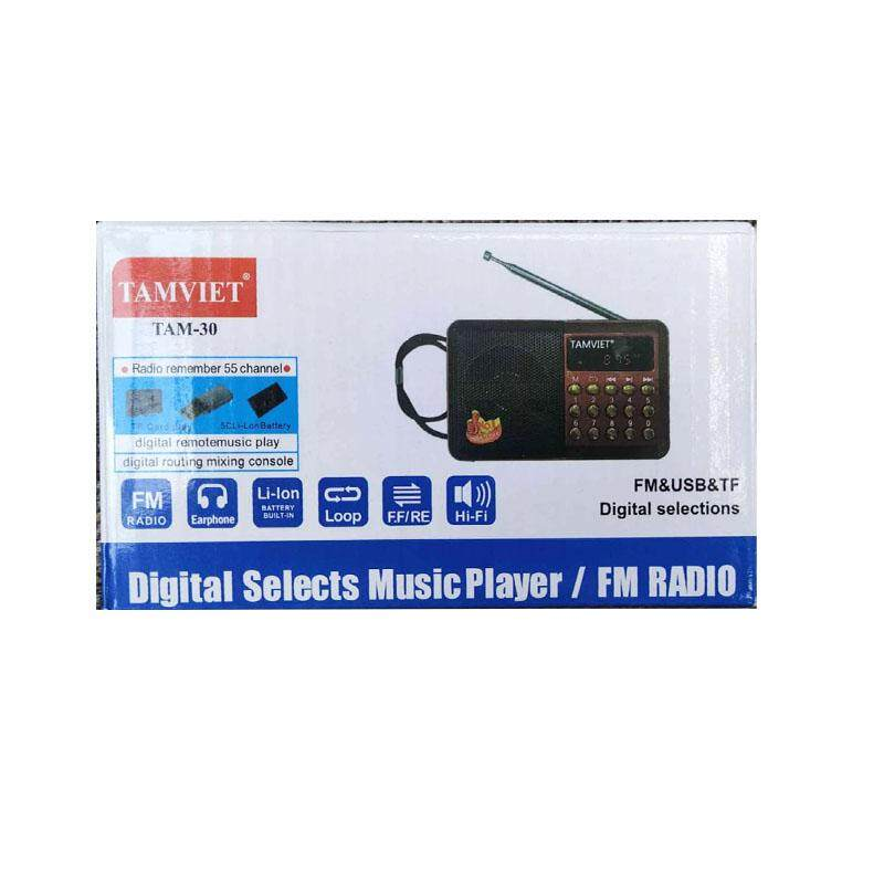 Tamviet Digtal Selects Music Player / Fm Radio (Tam-30) BLACK