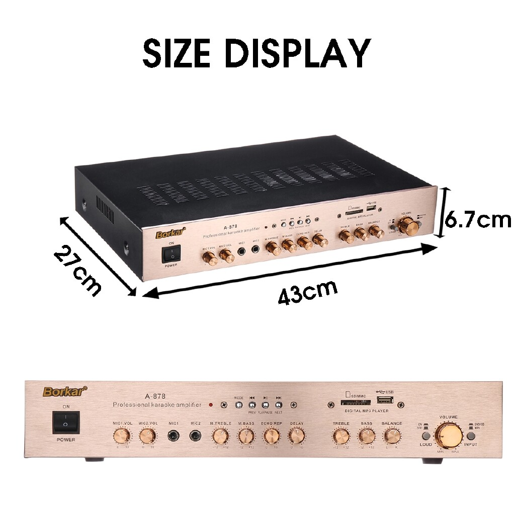 Amplifiers & Receivers - 4 Channel 1200W 17x10.6x2.6 Inch Power Amplifier AMP Stereo KTV - Home Entertainment