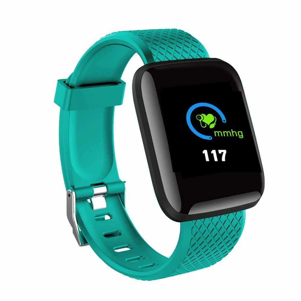 D13 Smart Watch Heart Rate Blood Pressure Monitor Fitness Tracker Watch IP67 Waterproof Sport Smart Wristband for Android IOS (Green)