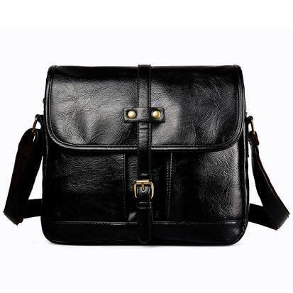 [M'sia Warehouse Direct] 2019 Korean Series Leather Men's Sling Bag Messenger Bag Cross Body Multifunction Casual Shoulder Pouch Handcarry Bag Lightweight Travel Bag Multipurpose Best Gift For Love One Kulit Halal