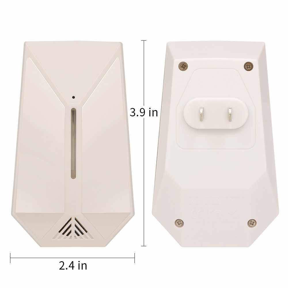 2Pcs Ultrasonic Pest Repeller Radar Wave Electronic Repellent Indoor Plug in Pest Control of Insects Mice Ant Mosquito Spider Rodent Roach Pest Defender Safe for Children and Pets US (White)