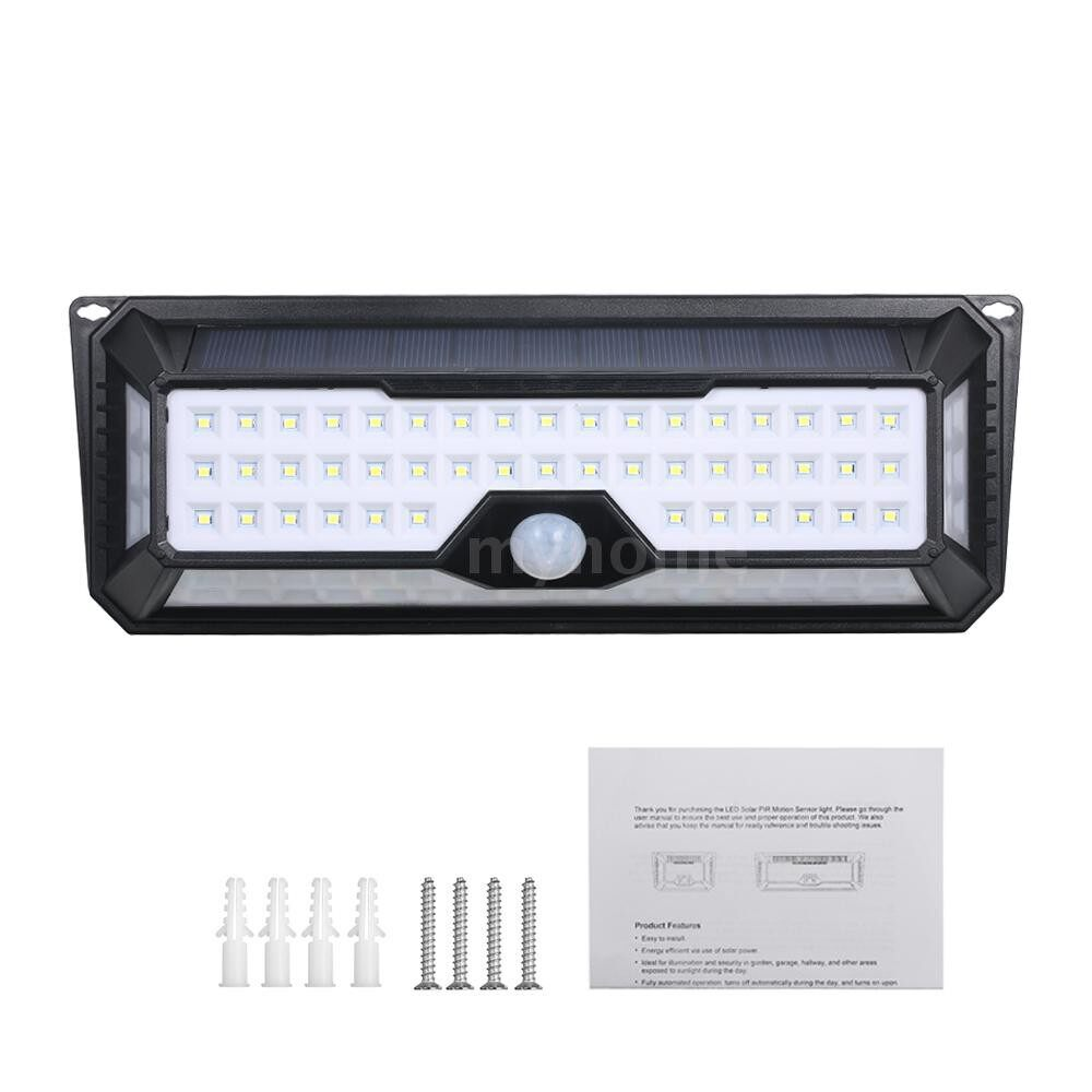 Outdoor Lighting - 86 LEDs Solar Lamp PIR Motion Sensor Wall Lights Waterproof IP65 3 Modes Mounting Night Secury