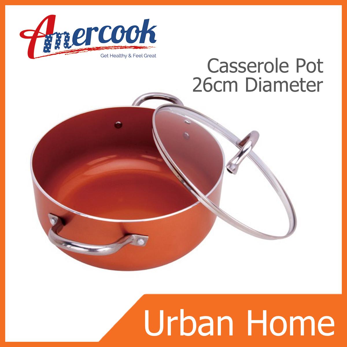 AMERCOOK Non-Stick Casserole Pot (26cm Diameter)
