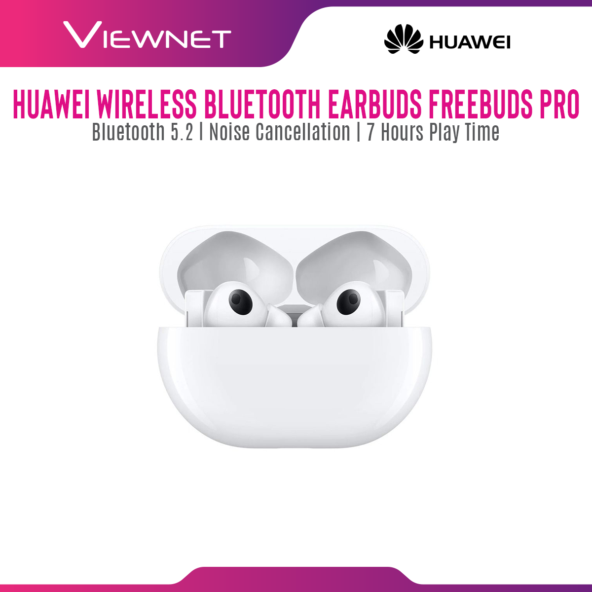HUAWEI FreeBuds Pro Wireless Bluetooth Earphone with Bluetooth 5.2, Noise Cancellation, 7 Hours Play Time