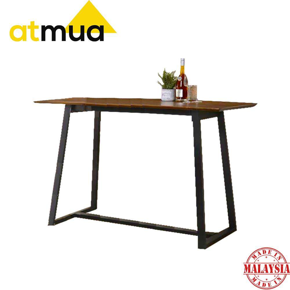 [ Table ONLY ] Atmua Avas Bar Table Counter Table High Table 36 Inch Height 91 cm Height Table ( Solid Wood ) Meja Tinggi 36 inch Meja Solid Kayu Getah [Free Delivery]