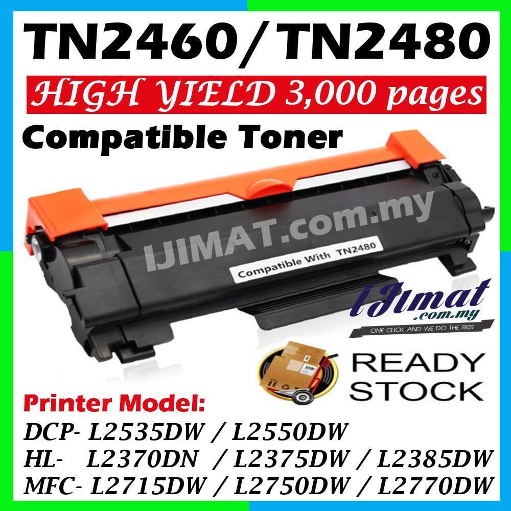 TN-2480 TN-2460 TN2480 TN2460 Compatible Laser Toner Cartridge HL-2370DN HL L2370 HL 2370DN / HL-2385DW HL L2385 HL 2385DW / DCP-2550DW DCP 2550DW DCP L2550 / MFC-2715DW MFC 2715DW MFC L2715 / MFC-2770DW MFC 2770DW MFC L2770 Printer Ink