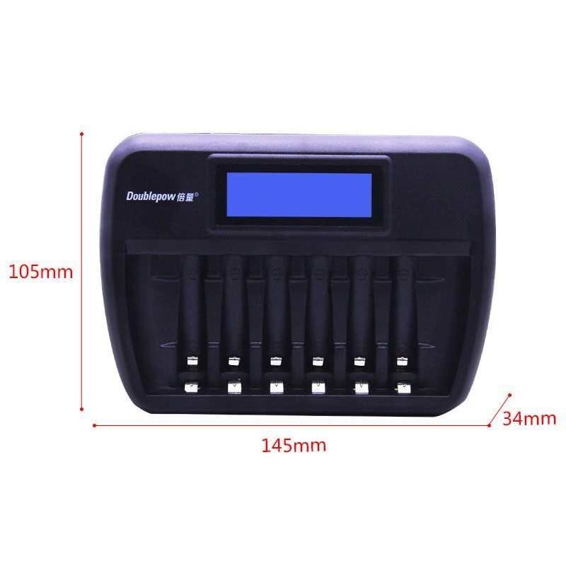Chargers - Doublepow K66 6 Slot Quick Charge AA AAA Rechargeable Battery Charger - UK / AU