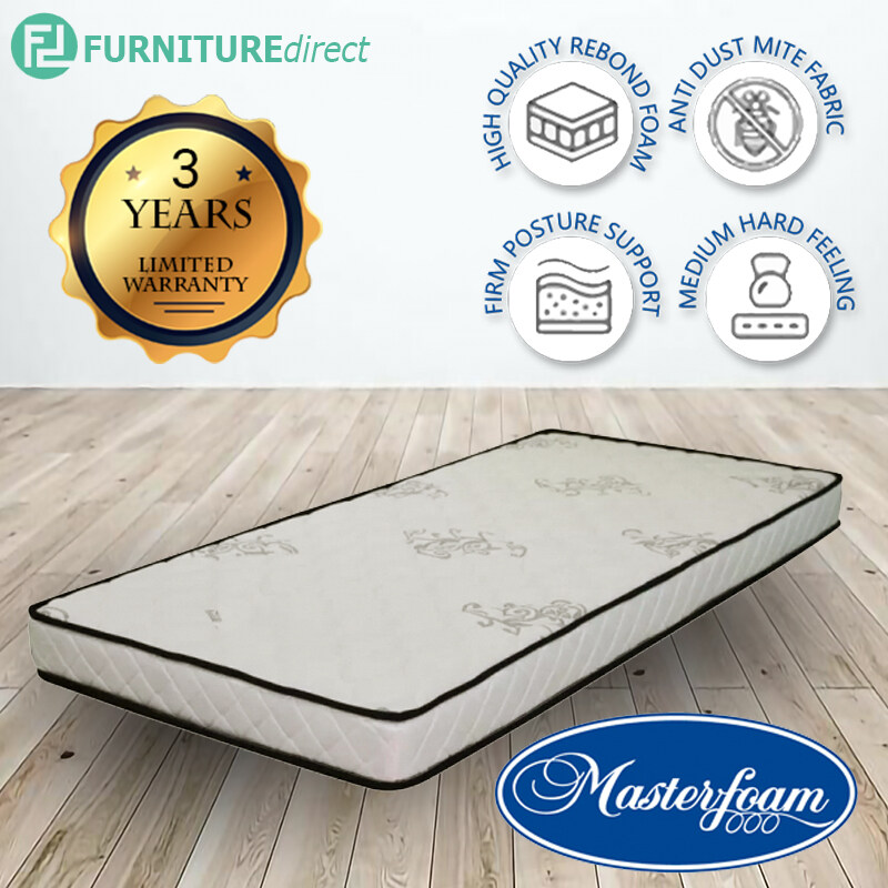 MASTERFOAM SLEEP ZEE SINGLE SIZE 5INC MATTRESS MF-FOM-SLZ-3x5-K