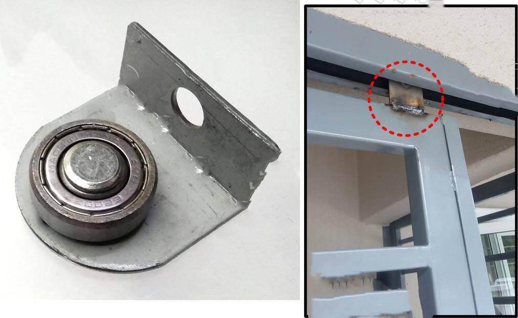 Bosco Heavy Duty L-Bracket Sliding Door Bearing Roller ( 5Pcs)