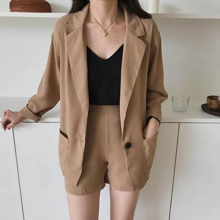 (Pre Order14 Days  JYS Fashion Korean Style Women Blazer +BottomSetCollection515-4382col515-4382-Khakis-M