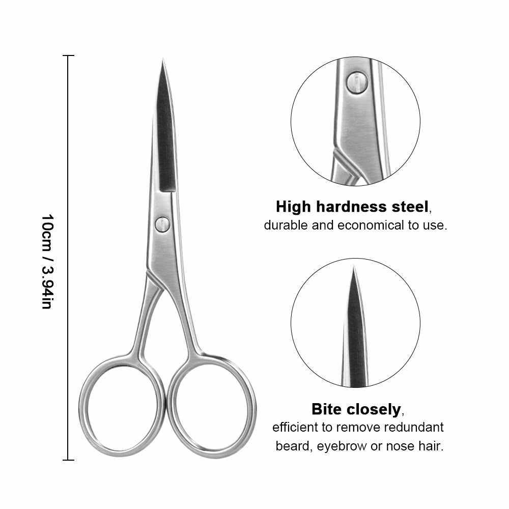 People's Choice Mini Stainless Steel Eyebrow Nose Hair Shaver Trimmer Shear Scissor (Standard)