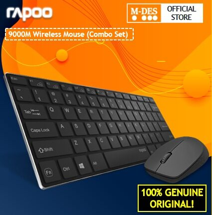 Rapoo 9000M 2.4G Wireless Multi Mode Keyboard + Mouse Combo Set [Transmission Mode Bluetooth Mouse 3.0 4.0 and 2.4G / 5 million strokes keylife