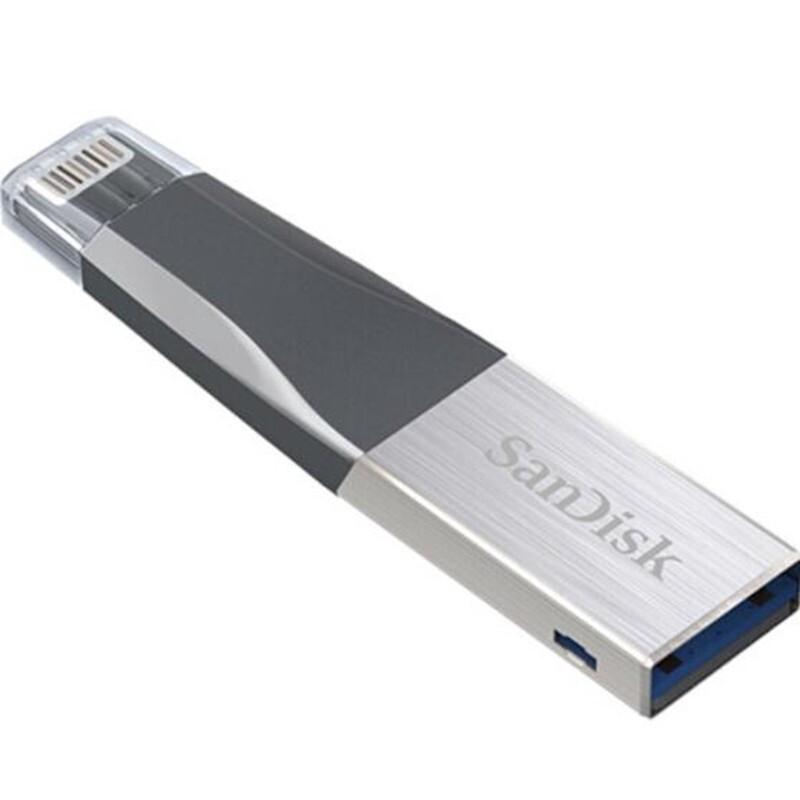 SanDisk USB Flash Drive iXPand OTG Lightning Connector U Disk USB 3.0 Stick 64GB 128GB Pen Drives - 64G / 128G