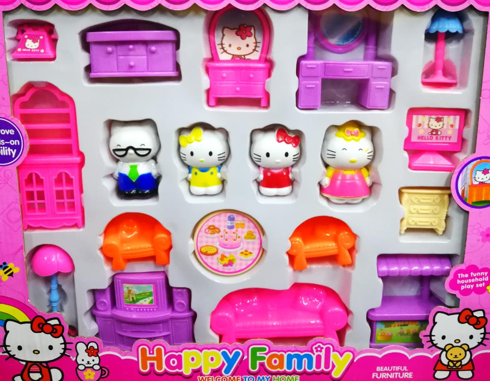 Hello Kitty Family Home Toys Set for girls