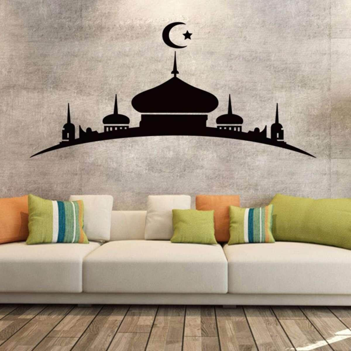(MALAYSIAN SELLER) Islam Wall Sticker Islamic Art Sticker Removable Arabic Arabian Allah Malay Melayu Nabi Muhammad Mosque Syahadah Sticker Vinyl Home Decor Home Deco Decal MANY DESIGN INSIDE (FREE RM 50 VOUCHER)