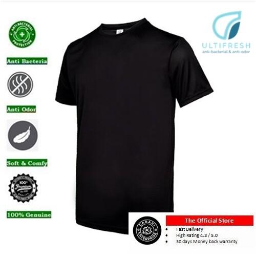 ULTIFRESH UDF01 Unisex Crew Neck Dri-Fit T-Shirt Anti Bacterial Anti Odor Performance tshirt tees