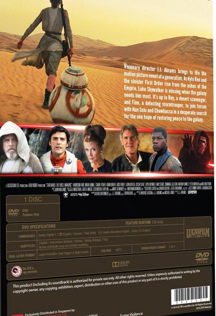 Star Wars VII The Force Awakens English Movie DVD