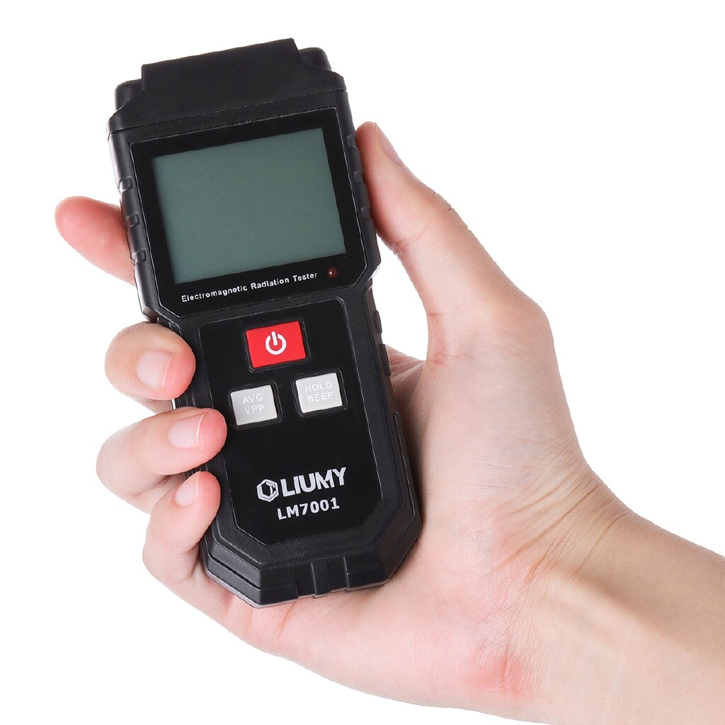 DIY Tools - LIUMY Handheld Radiation Detector Digital Electromagnetic Meter with Battery - Home Improvement