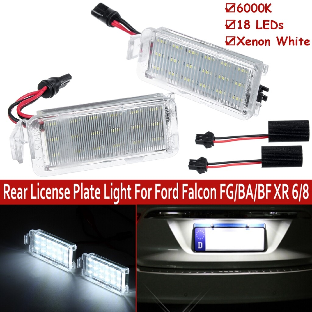 Car Lights - Pair 18 LED SMD Rear License Plate Light For Ford Falcon FG/BA/BF XR 6/8 - Replacement Parts