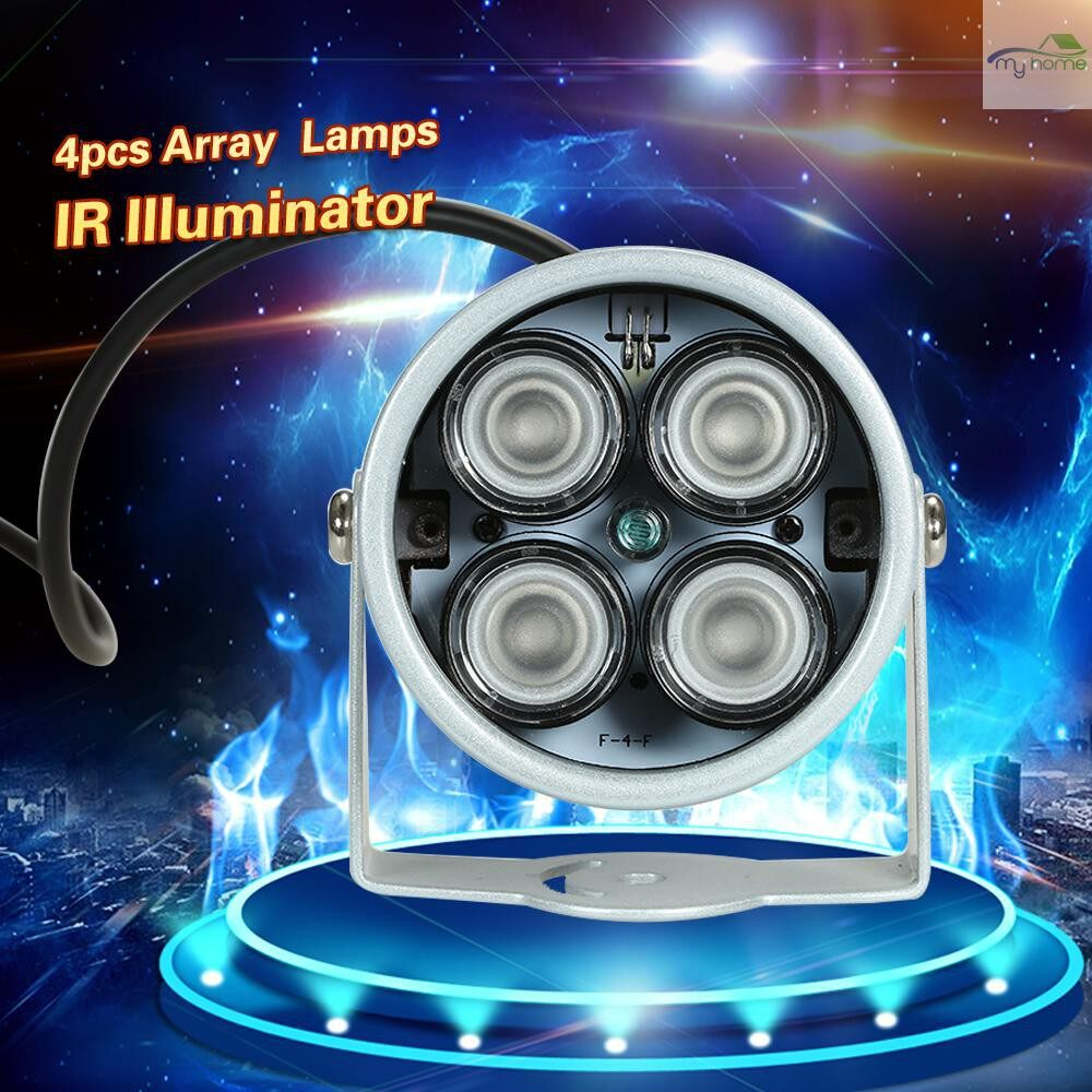 Monitors - 4 PIECE(s) High Power LED IR Array Illuminator IR Lamp for CCTV Security Camera, Silver - Computer Accessories