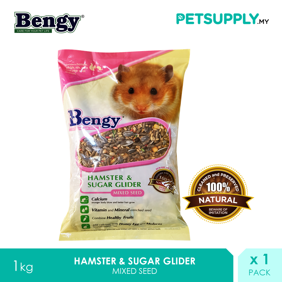 Bengy Hamster & Sugar Glider Mixed Seed 1kg [Makanan Biji Benih - Petsupply.my]