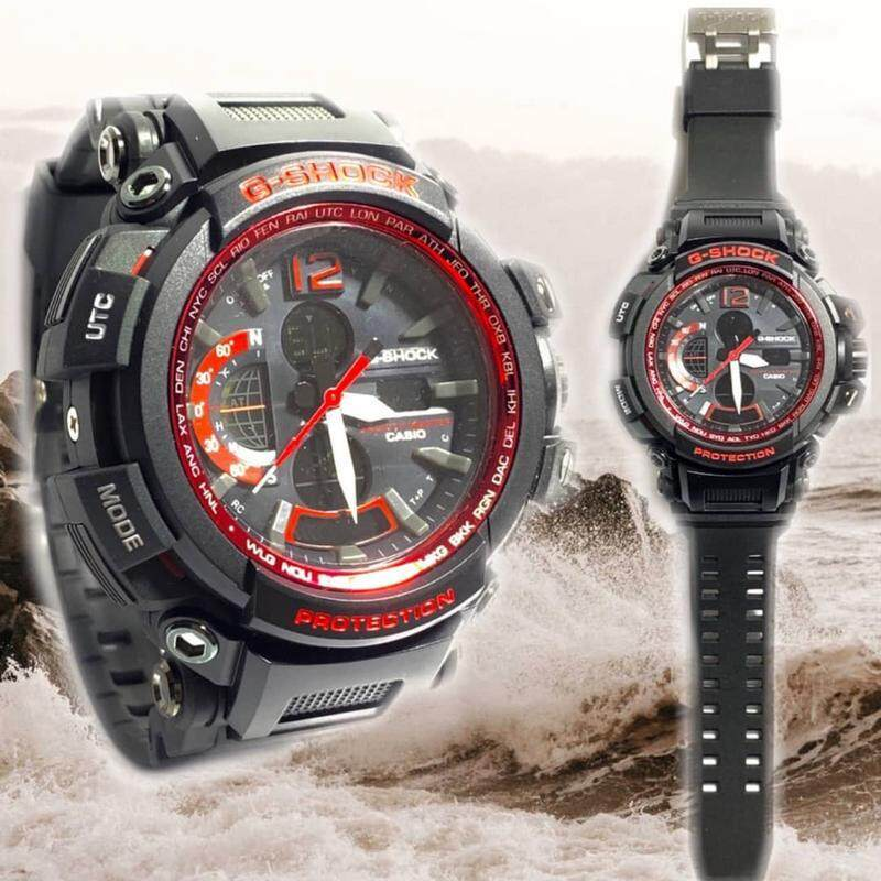 Casio_G_SHOCK_Dual Time Dual Time Display Fashion Casual Watch For Men Ready Stock 100% Mineral Glass New Design
