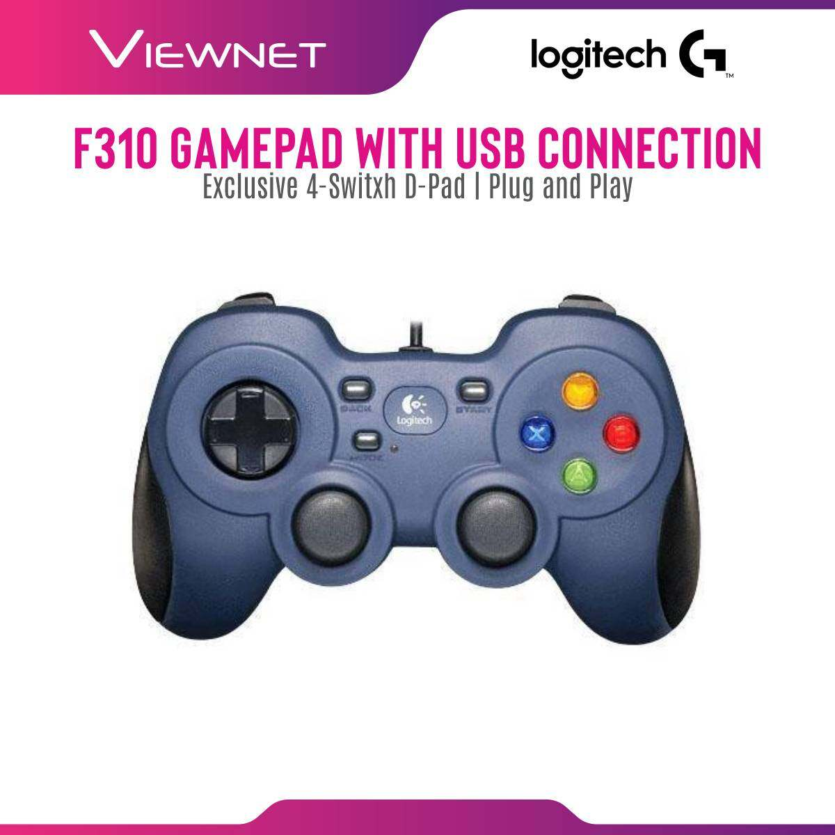 Logitech F310 Gamepad with USB Connection, Exclusive 4-Switxh D-Pad, Plug and Play(940-000112)