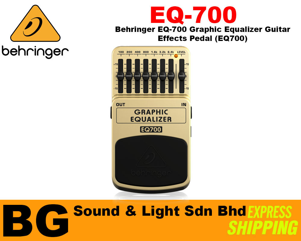 [SHIP OUT EVERYDAY]Behringer EQ-700 Graphic Equalizer Guitar Effects Pedal (EQ700)
