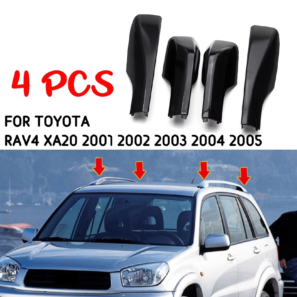 Engine Parts - 4 PIECE(s) Black Car Roof Rack Cover Replacement 2.4 for Toyota RAV4 XA20 2001-2005 mhestore2009 - Car Replacement