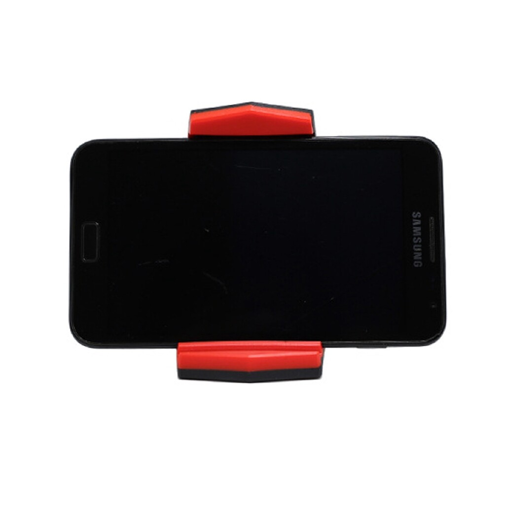 Phone Holder & Stand - Universal Car Dashboard Desktop Mount Holder Cradle Stand For Mobile Cell Phone - BLACK AND RED / BLACK GRAY / BLUE / BLACK WHITE