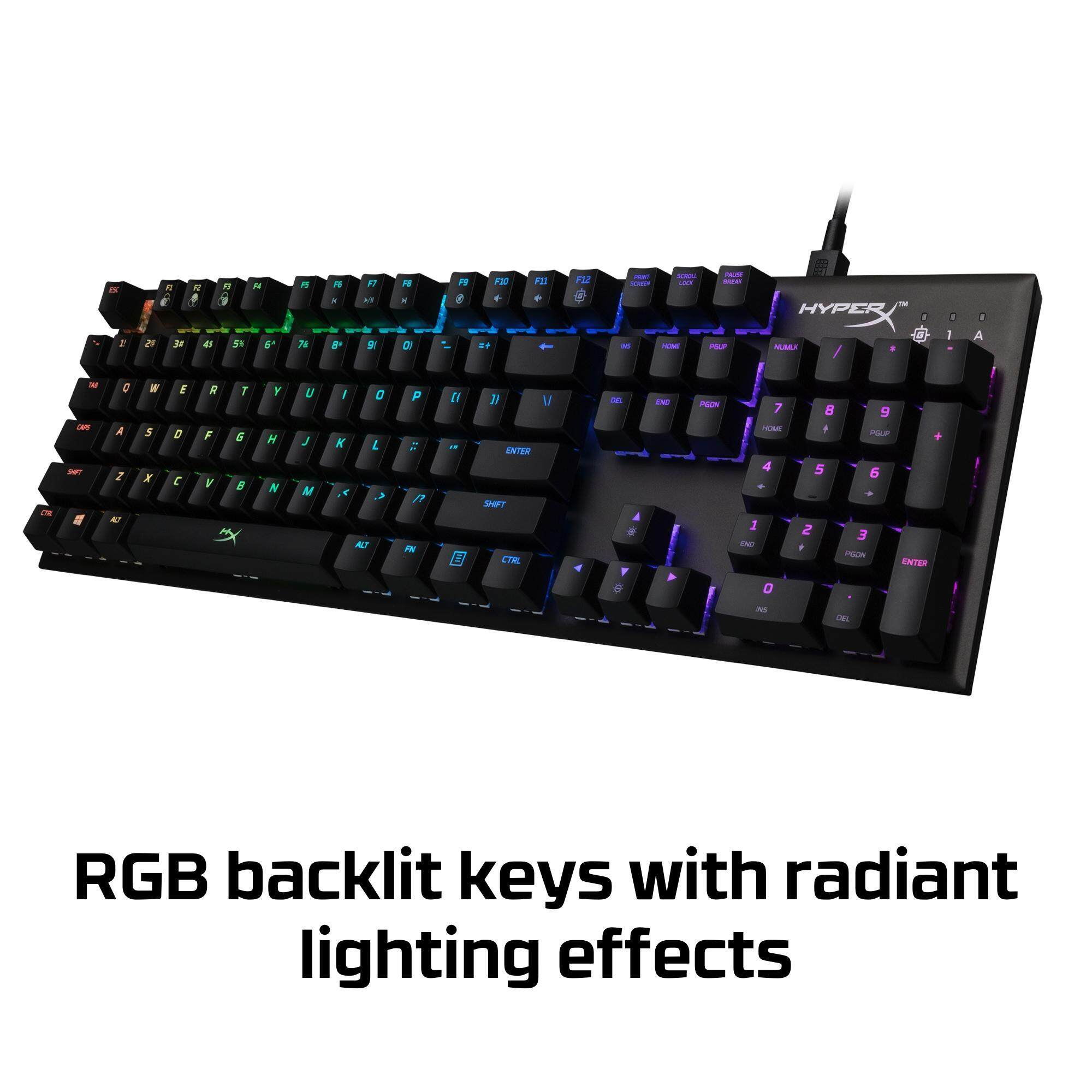 HyperX Alloy FPS RGB Mechanical Gaming Keyboard - Speed Silver (HX-KB1SS2-US)