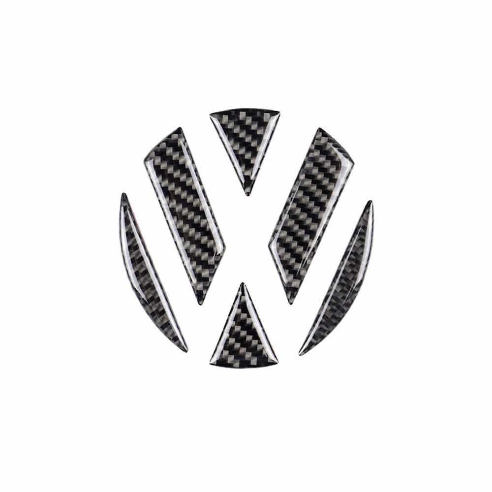 Best Selling Car Steering Wheel Sticker Decal Volkswagen Logo Sign Replacement for Volkswagen Golf 6 7 Polo Beetle Touran Passat CC R36 (Black)