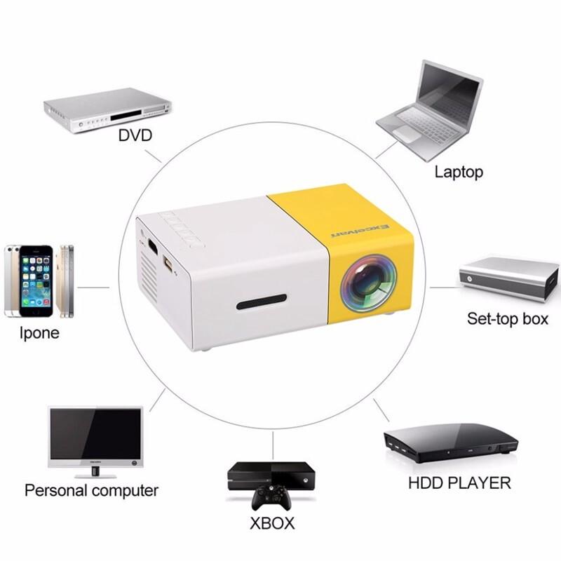 LED Projector 600 lumen 3.5mm Audio 320x240 Pixels YG-300 HDMI USB MINI Projector Home Media Player