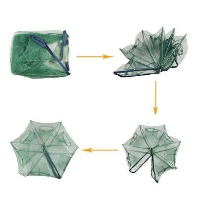 Portable Full Automatic Folding Shrimp Cage Fishing Net (SEA GREEN)