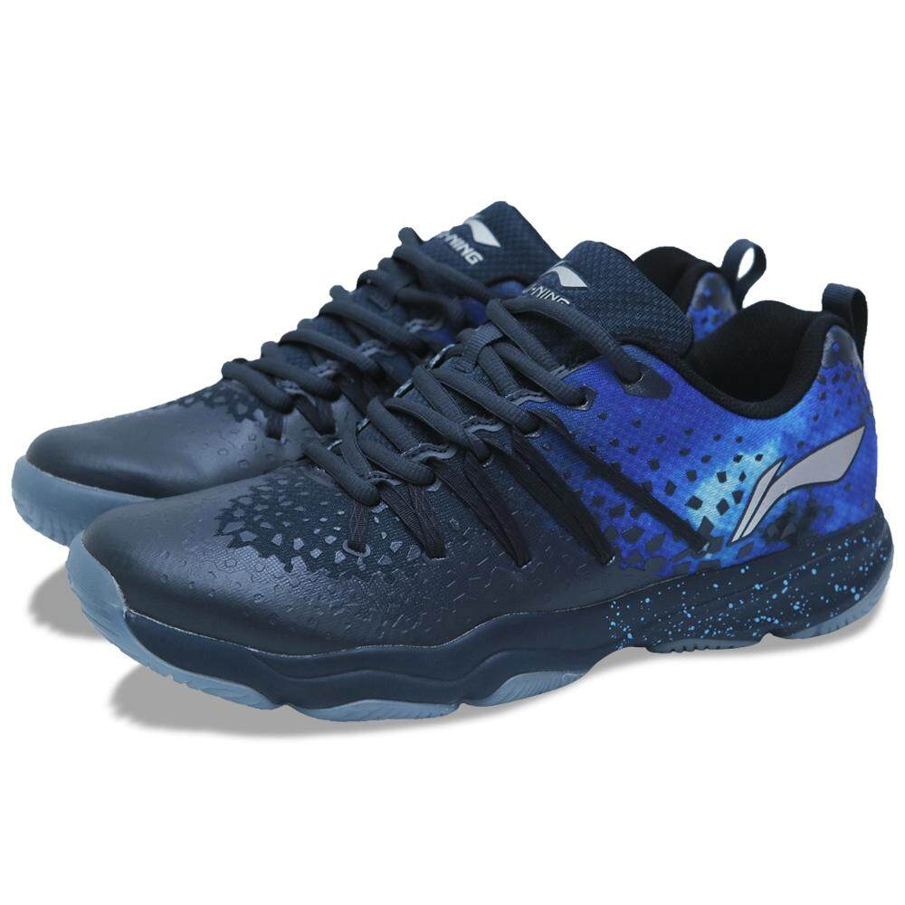 Li-Ning Nebula Badminton Shoes - Blue AYTN087-1