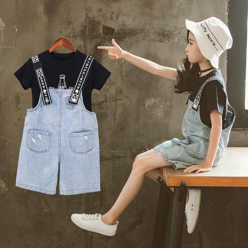 (Pre Order14 Days  JYS Fashion Korean Style KidsGirl2Piece Set(Top+Pant)Collection-5184758col518-4758--Black -128
