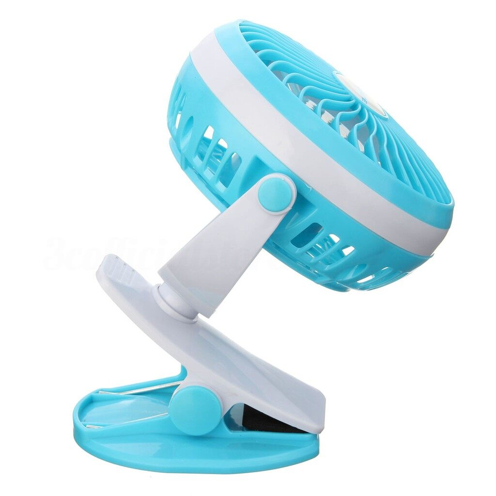 USB Fan - USB PORTABLE MINI Fan Clip Style Fan With Rechargeable Lithium Battery_3C - BLUE / GREEN / PURPLE / PINK