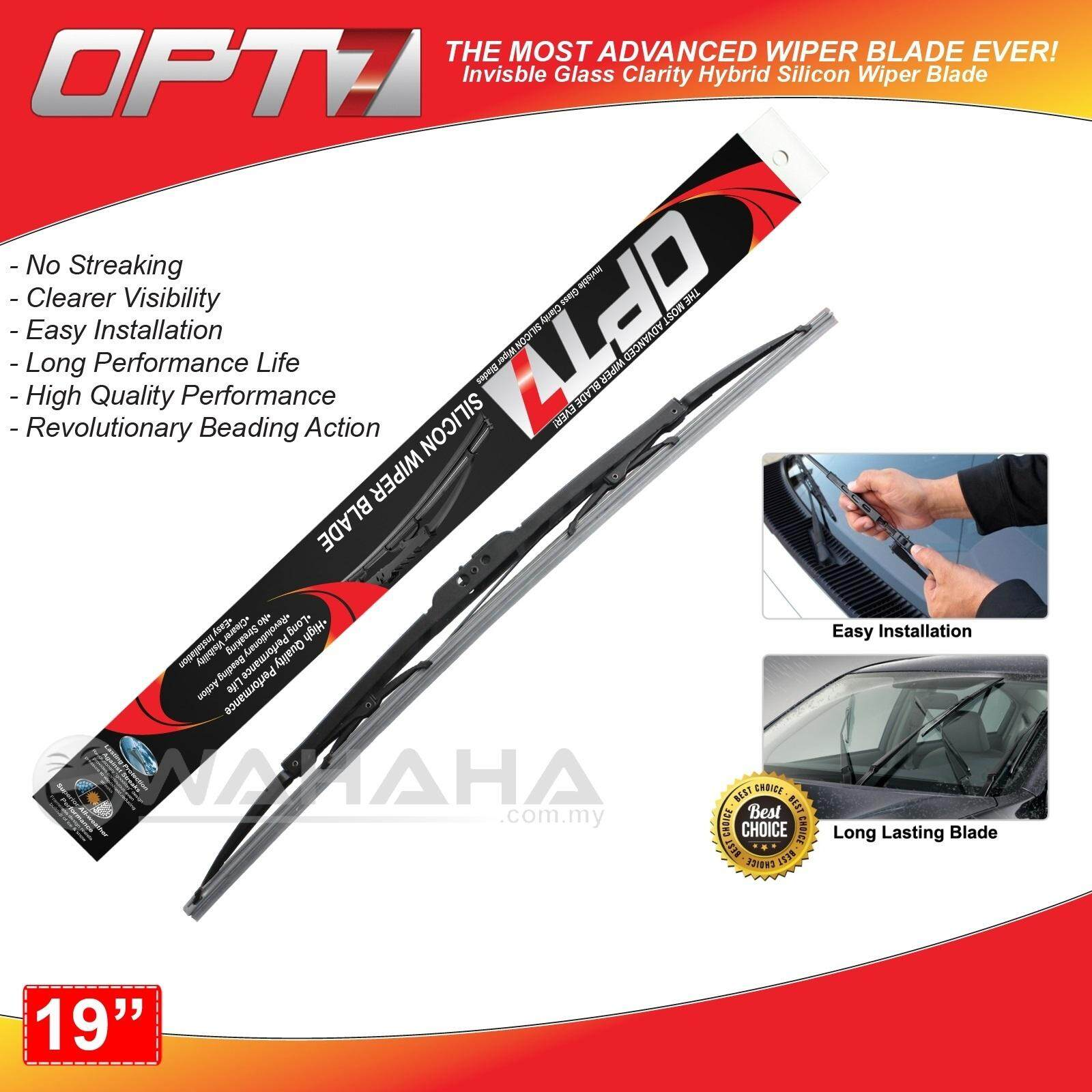 """OPT7 Window Windshield High Quality Silicon Wiper Blade 19"""""""