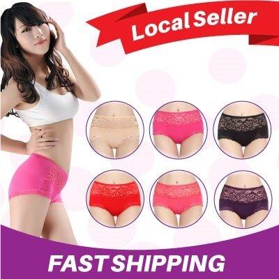 (LOCAL SELLER)Sexy Briefs for Women Floral Underpants High-waist Women's Underwear Lace Seamless Panties Lingerie
