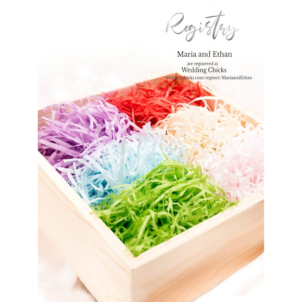 Raffia Shredded Paper Wedding Candy Box Gift Box Stuffing Colored Decorative Filling Material Crinkle Paper Filler