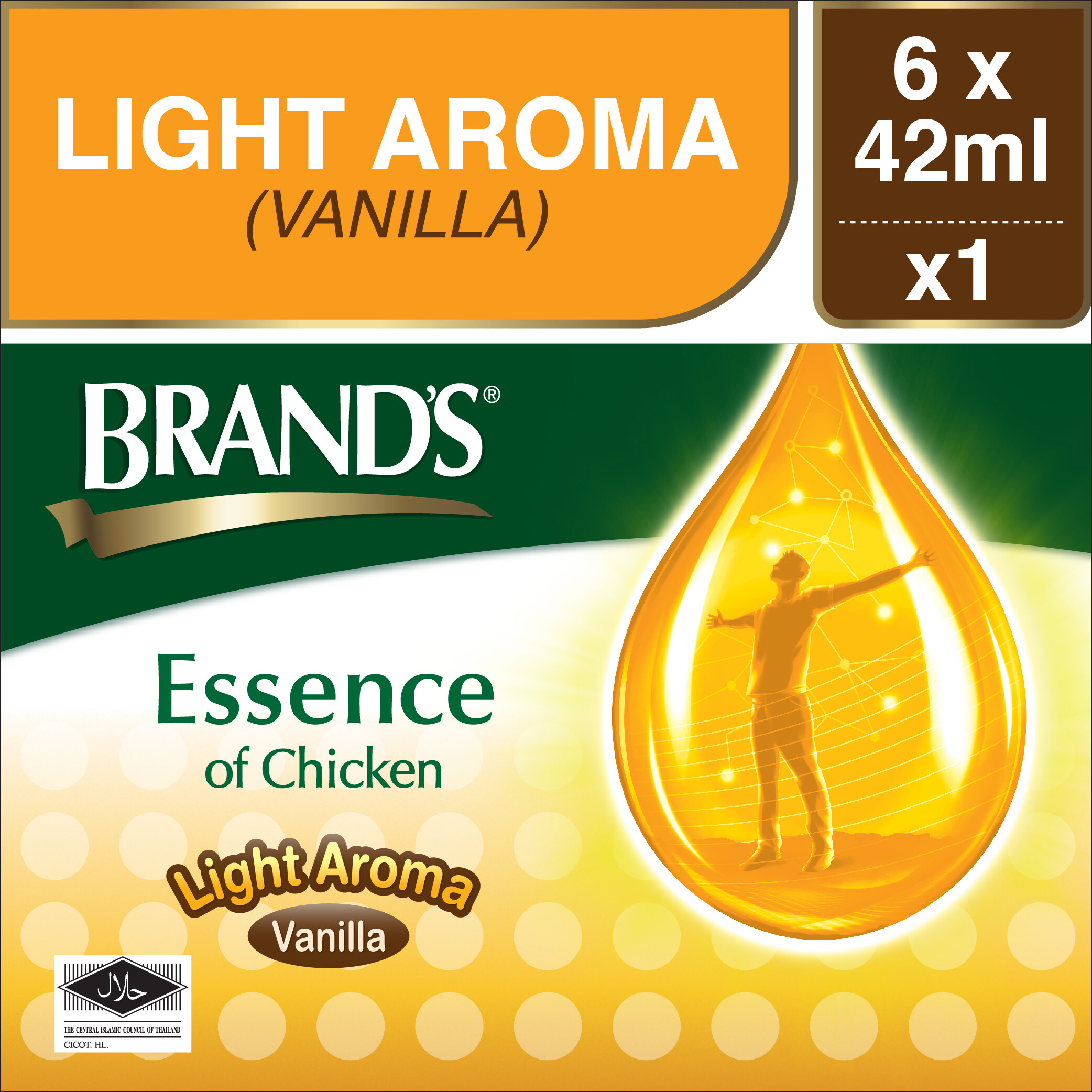 Brand's Essence of Chicken Light Aroma (6 bottles x 42gr)