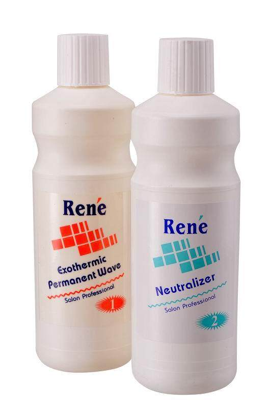 Rene Professional Exothermic Permanent Cold Wave Lotion 1000ml + 1000ml