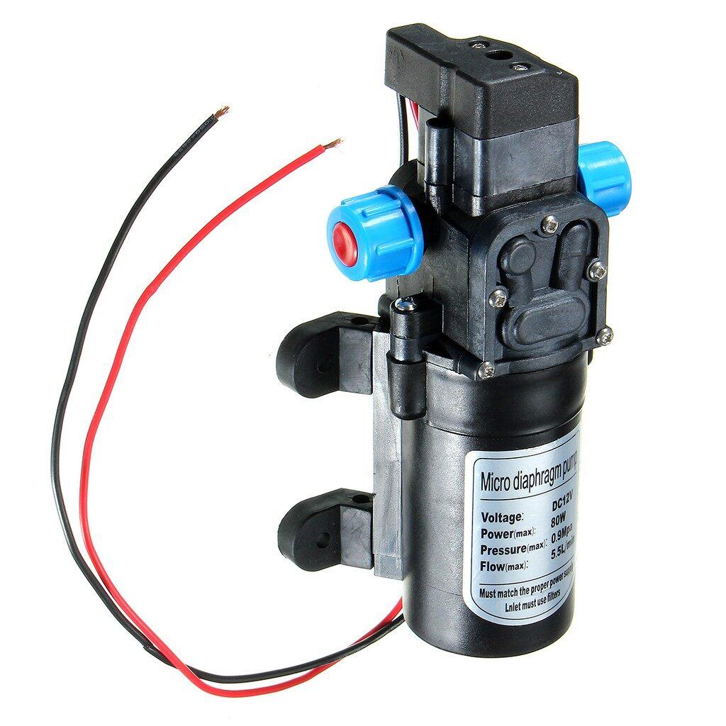 Moto Spare Parts - DC12V 80W 0142 Motor 5.5L/Min High Pressure Diaphragm Water Self Priming Pump - Motorcycles, & Accessories