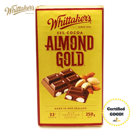 Whittaker's Almond Gold 33% Cocoa 250g (Ice Cold Pack included)