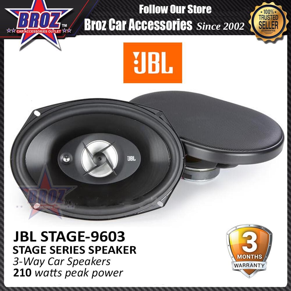 Broz JBL Stage 9603 Stage Series Speaker 6  x 9  3 Way Speakers