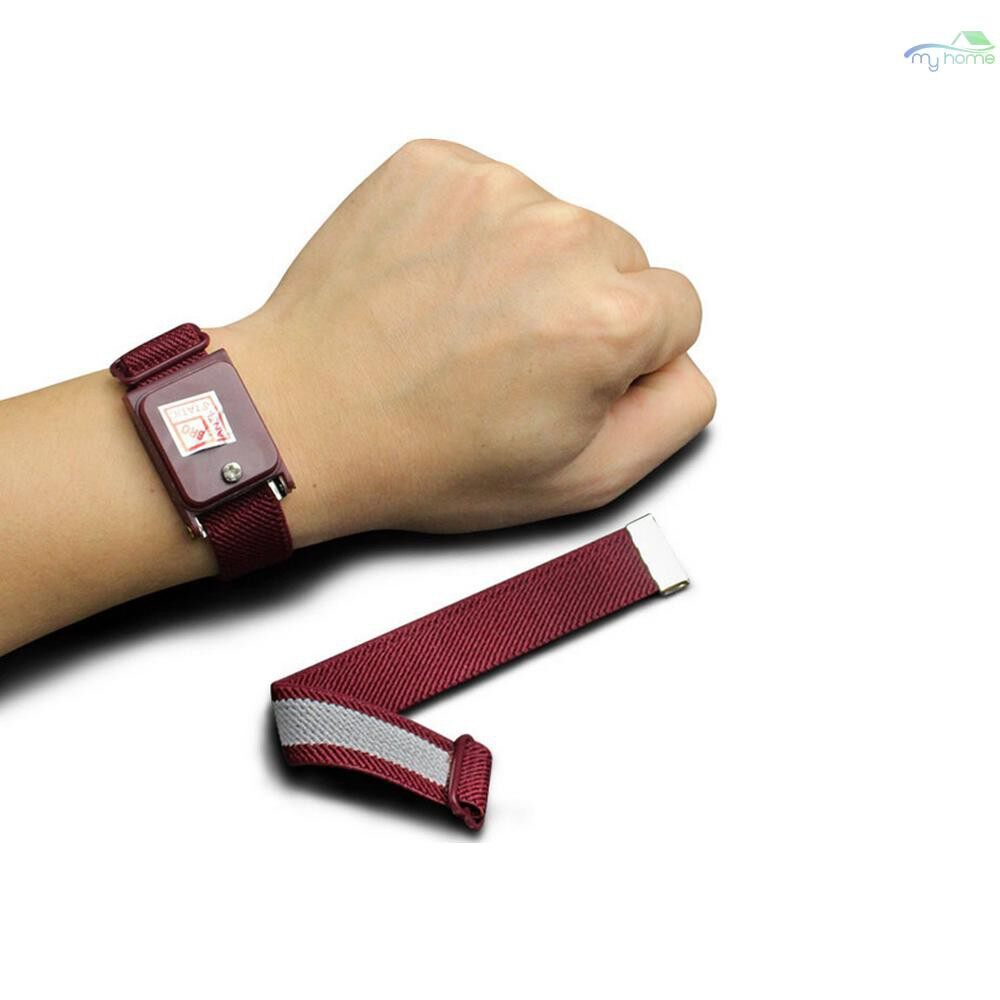 Protective Clothing & Equipment - WIRELESS Anti-Static Wrist Strap Band ESD Discharge AntiStatic Wrist Belt, Wine Red - Home Improvement