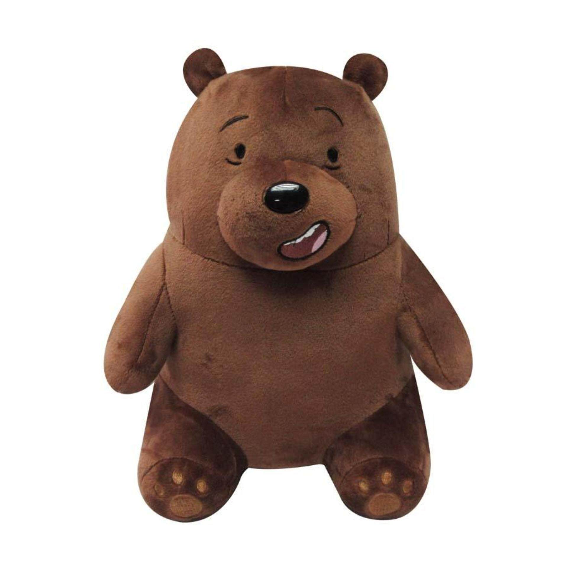 We Bare Bears 3D Plush Toy - Grizz toys for girls
