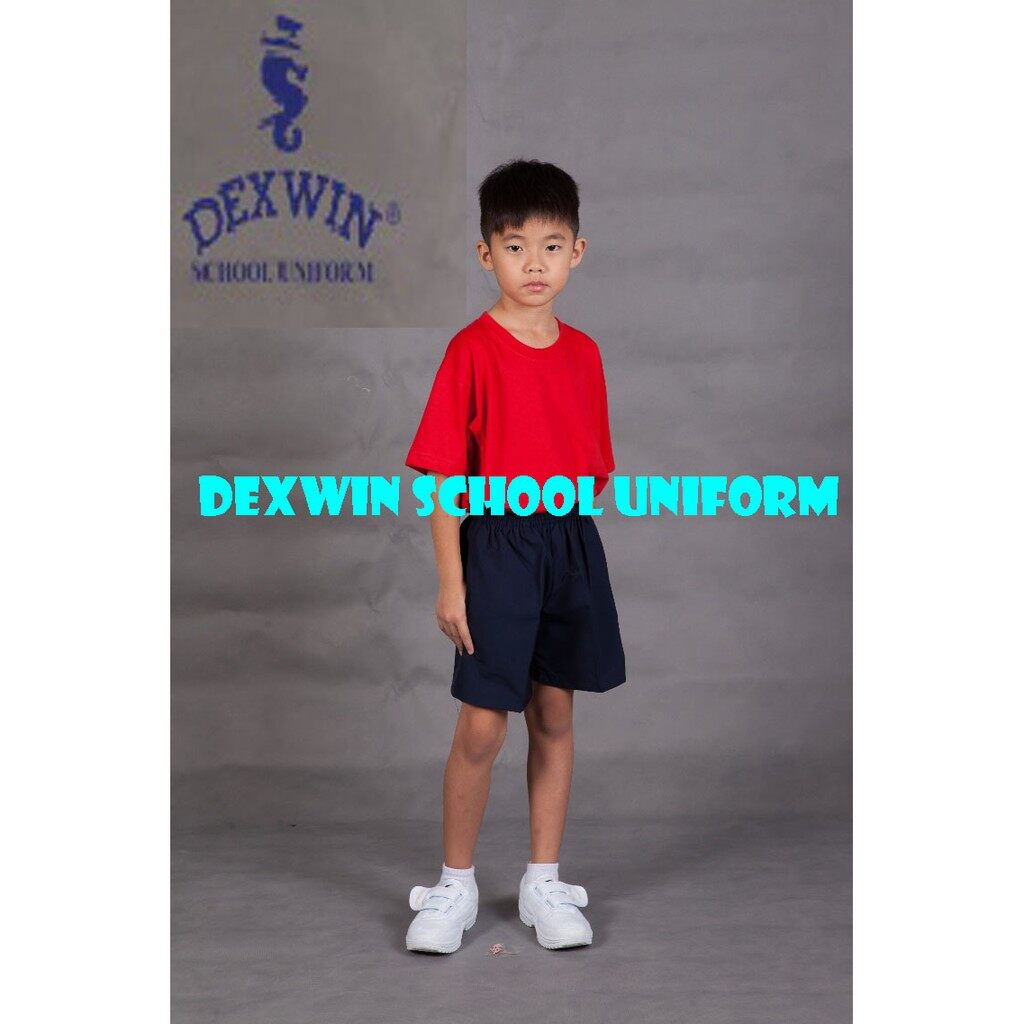 t-shirt merah leher bulat tangan pendek kain cotton