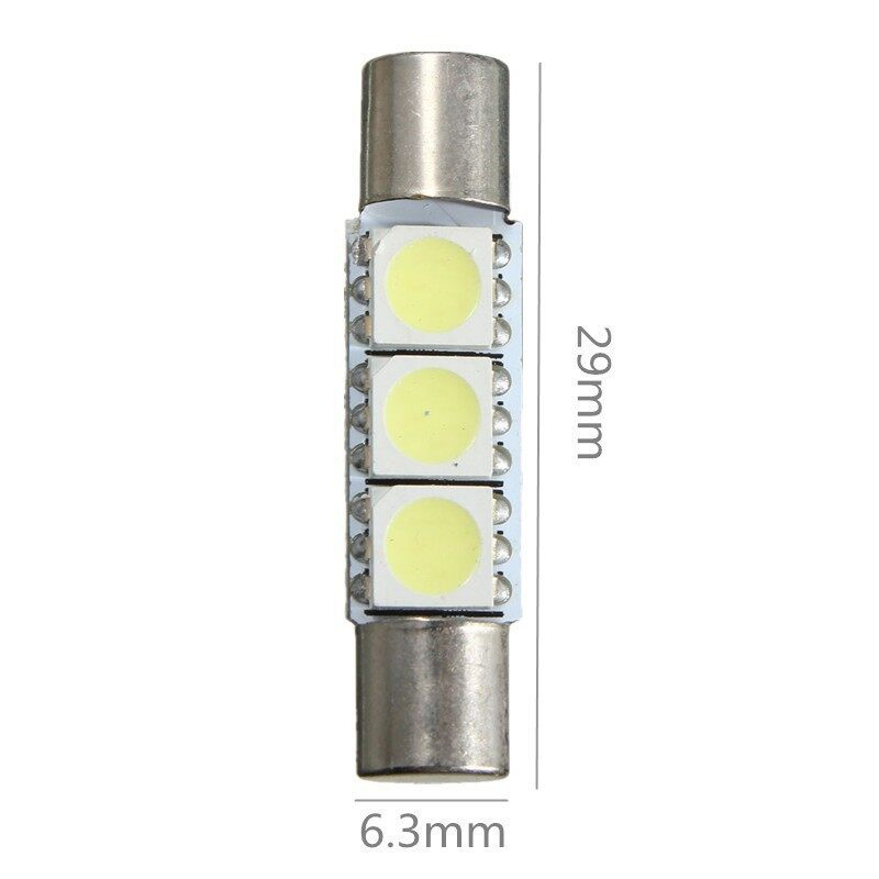 Car Lights - White 29mm T6 5050 LED Bulb For Car Sun Visor Vanity Mirror Fuse Light - Replacement Parts
